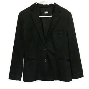 J. Crew Black Blazer Suit Jacket Cotton Size 6